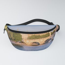 Cite island and Pont Neuf in Paris Fanny Pack