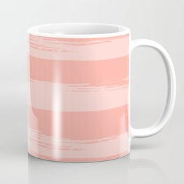 Rose Pink Stripes Design Coffee Mug