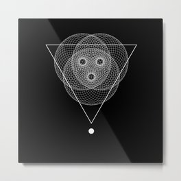Mesh triangle geometry Metal Print