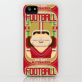 American Football Red and Gold - Hail-Mary Blitzsacker - June version iPhone Case