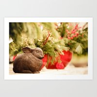 foo fighters Art Prints featuring Bunny foo foo by STEPHANIE MCARTHUR PHOTOGRAPHY