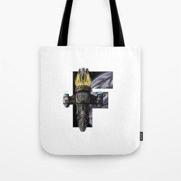 Geek letter F Tote Bag