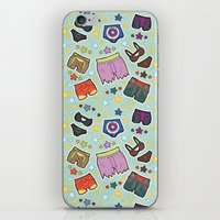 super heroes iPhone & iPod Skins featuring kinky super heroes by Audrey Molinatti