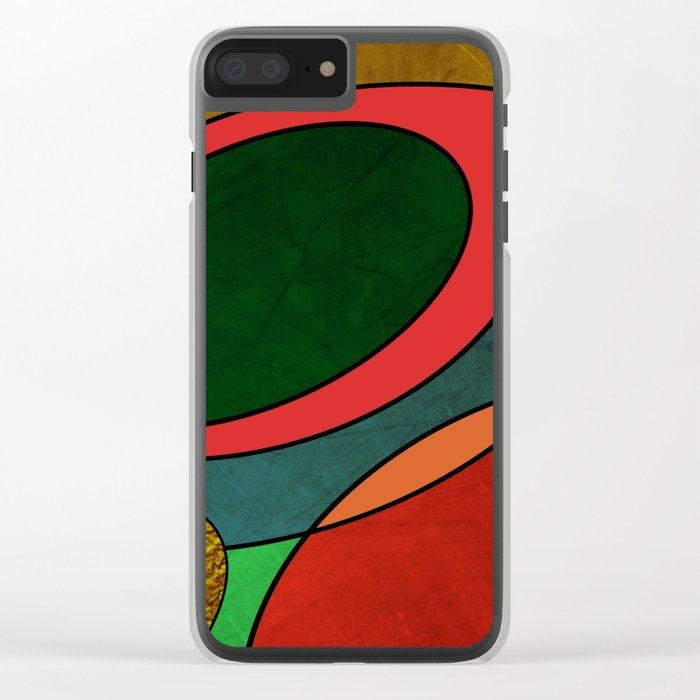 Abstract #325 Clear iPhone Case