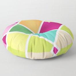 Modern Diamond Geometric Pattern Design // Pink Orange Green Blue Floor Pillow