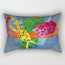 abstract embroidery Rectangular Pillow