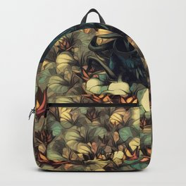 The skull, the flowers and the Snail Warm Backpack