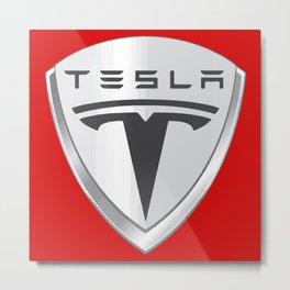 Tesla Motors Metal Print