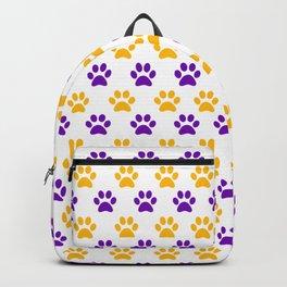 LSU Paw prints Backpack
