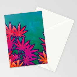 Turquoise Cannabis Field Stationery Cards