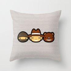 Ninja Cowboy Bear Throw Pillow