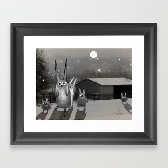 Night Scene Framed Art Print