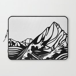 Black and White Mountain Watercolor Laptop Sleeve
