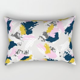 Strokes and abstract textures Rectangular Pillow