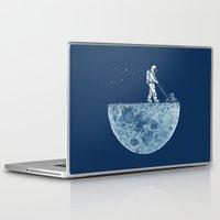 moon Laptop & iPad Skins featuring Mown by Enkel Dika