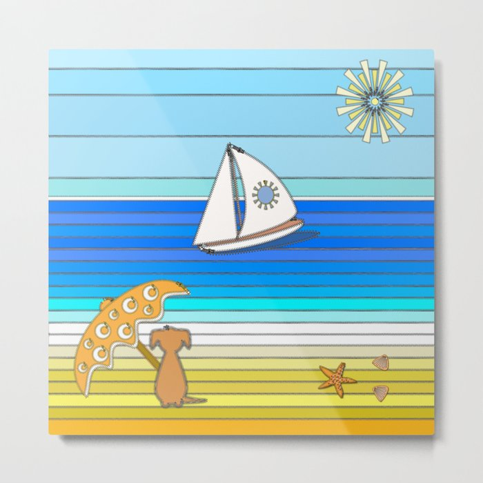 Summertime and the Living is Easy Metal Print