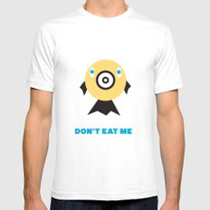 Don't Eat Me Vegan Fishie Art SMALL White Mens Fitted Tee