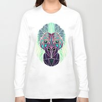 gorilla Long Sleeve T-shirts featuring gorilla by Manoou