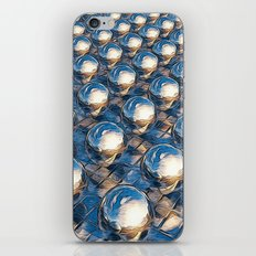 Abstract Spheres In A Row iPhone & iPod Skin