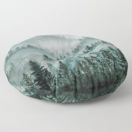 Misty Forest Floor Pillow