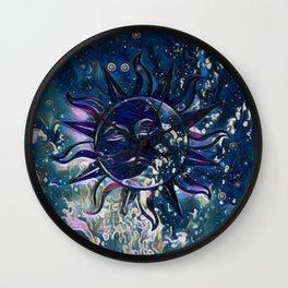 Dream Escape Sun Moon Wall Clock