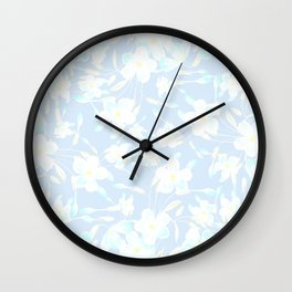 Spring Day Flowers Wall Clock