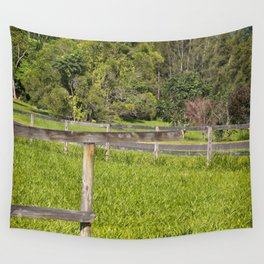 Broken fence in a rural area Wall Tapestry