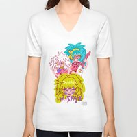 misfits V-neck T-shirts featuring Misfits Jem and the Holograms by Lady Love
