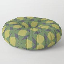 Breeze Block Shadows in Green Floor Pillow