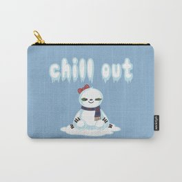 Snow Sloth says Chill Out Carry-All Pouch