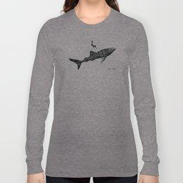 DIVER DOWN - whale shark dive Long Sleeve T-shirt