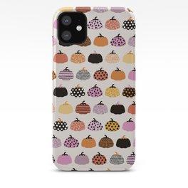 Halloween colorful indian summer pumpkin picking garden pink orange girls iPhone Case