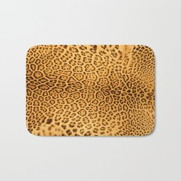 Brown Beige Leopard Animal Print Bath Mat