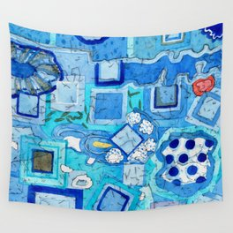 Blue Room with Blue Frames Wall Tapestry