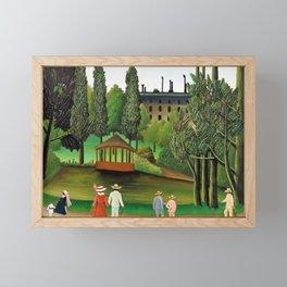 Henri Rousseau - View of Montsouris Park, the Kiosk - Digital Remastered Edition Framed Mini Art Print
