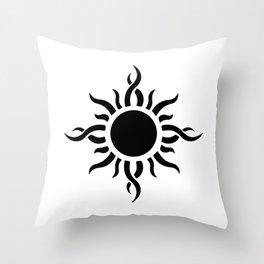 Tribal Sun 2 Throw Pillow