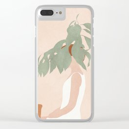 Lost in Leaves Clear iPhone Case