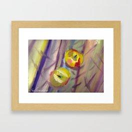 Candy Apple Stripes Framed Art Print