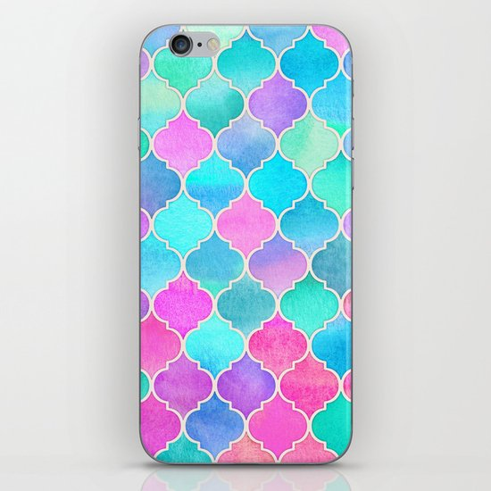 Bright Moroccan Morning - pretty pastel color pattern iPhone & iPod Skin