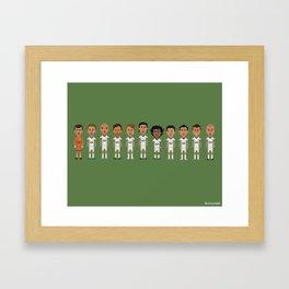 Real Madrid 2012/2013 Line Framed Art Print