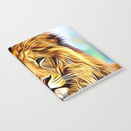 Lion head digital art Notebook