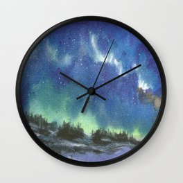 Northern Lights Wall Clock