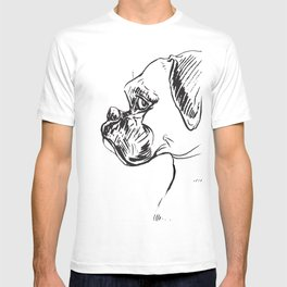 Boxer Dog Profile T-shirt