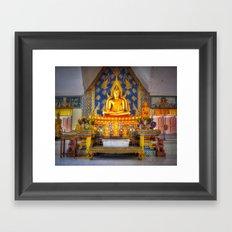 Sitting Buddha Shrine Thailand Framed Art Print
