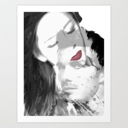Coveted Kiss Art Print