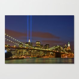 Tribute In Lights Memorial Lights-NYC Canvas Print