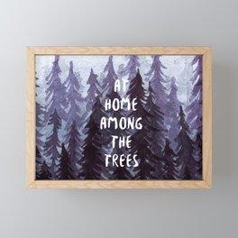 At Home Among the Trees Framed Mini Art Print