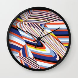 Over Lines Wall Clock