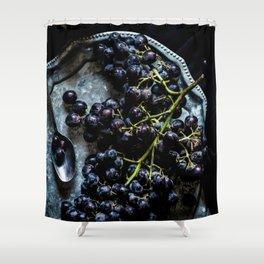 Black Grapes Shower Curtain