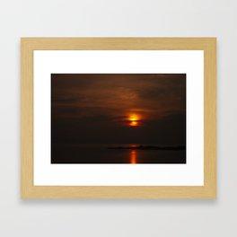 Red Sky, Koh Phangan Framed Art Print